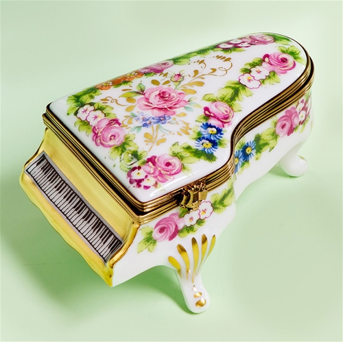 Limoges Piano with Romantic Roses box Limoges Boxes France